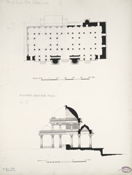 Plan of Miyan Khan Chishtis tomb (top), Tomb at Bibi Achut Kukis mosque (bottom)
